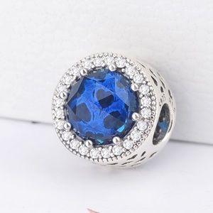 Pandora Blue Radiant Heart Charm
